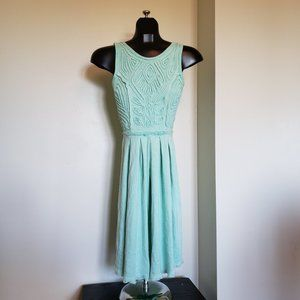 Free People Cord and Bead Patterned Dress